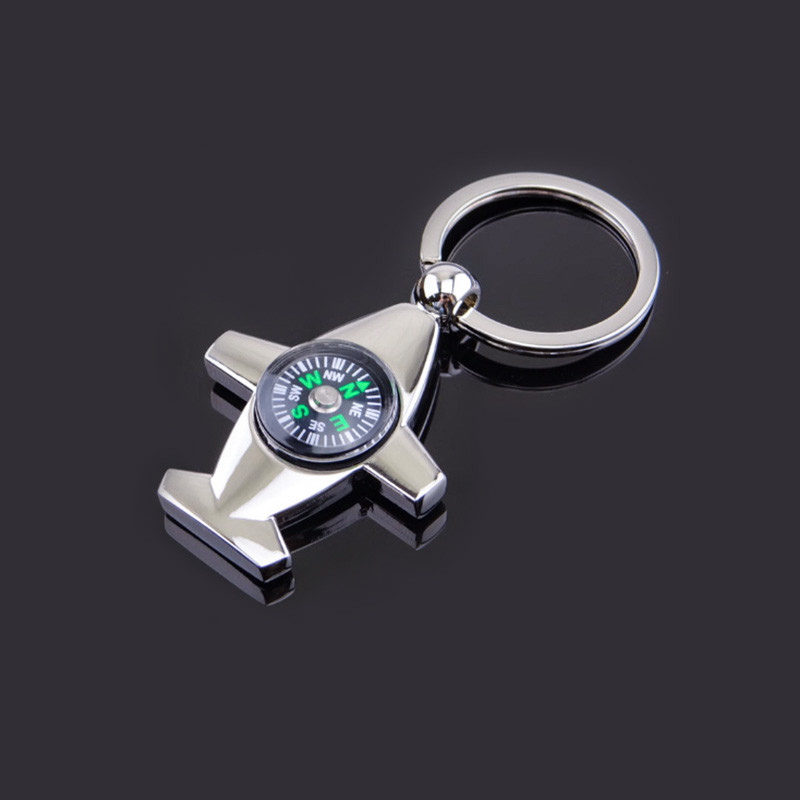 Airplane compass keychains
