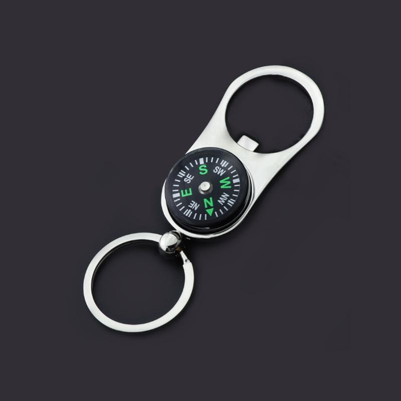 Bottle Opener Compass Keychains