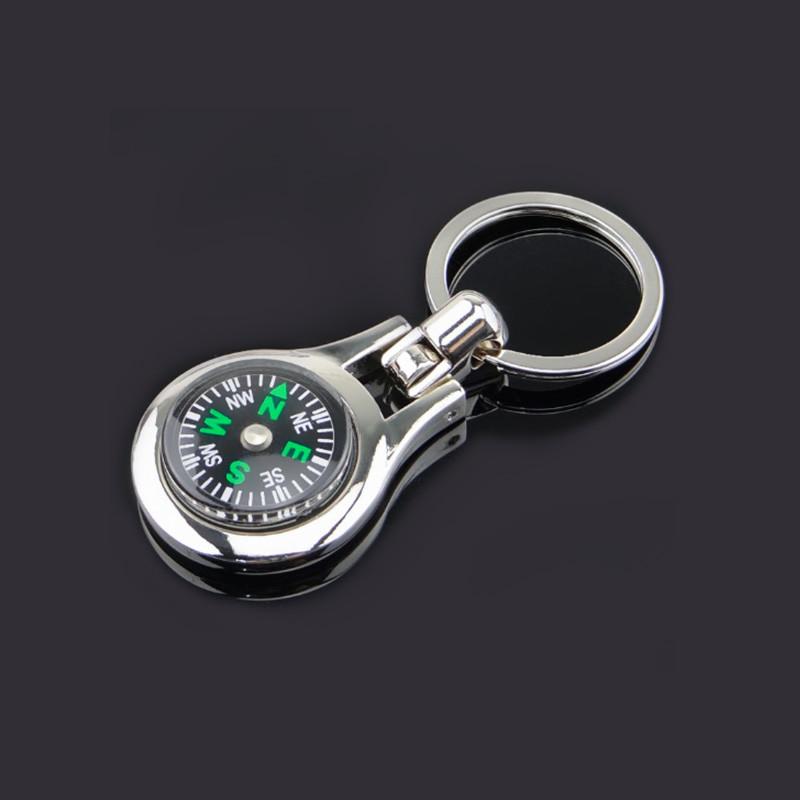 Round Compass Keychains