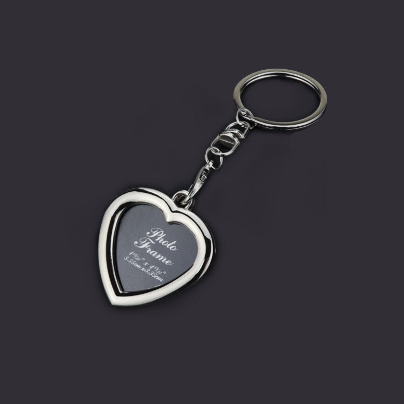 Heart  Photo Frame Keychains