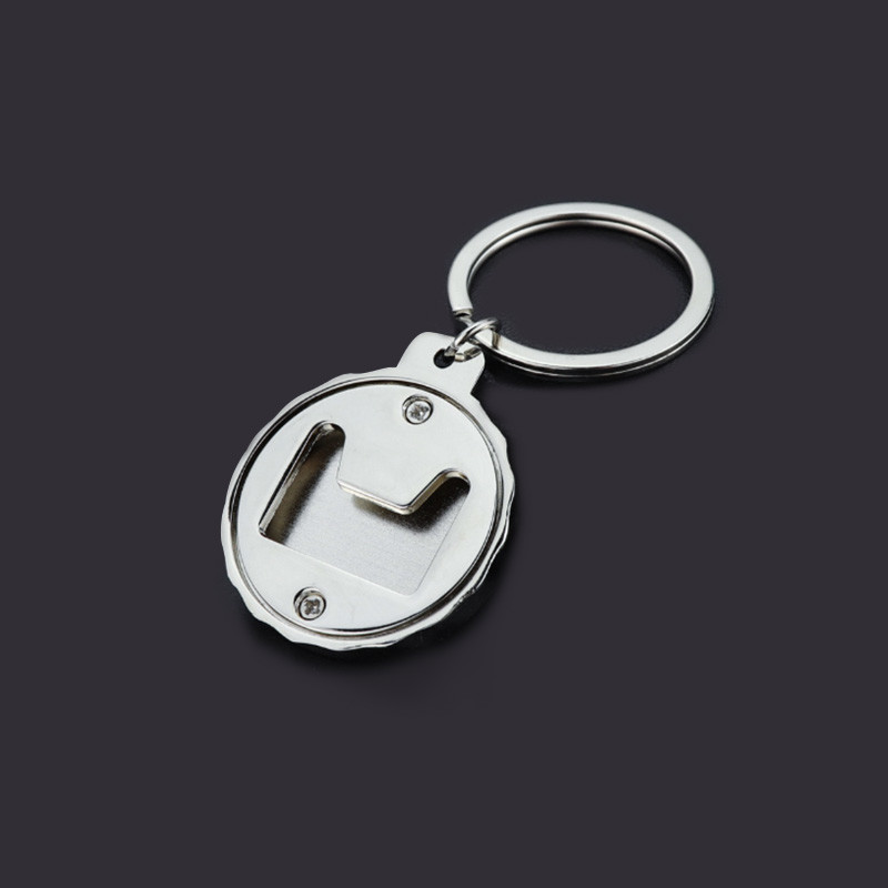 Metal Bottle Cap Shape Keyrings