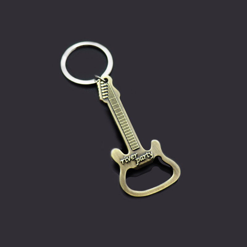 Guitar Beer Opener Keychains