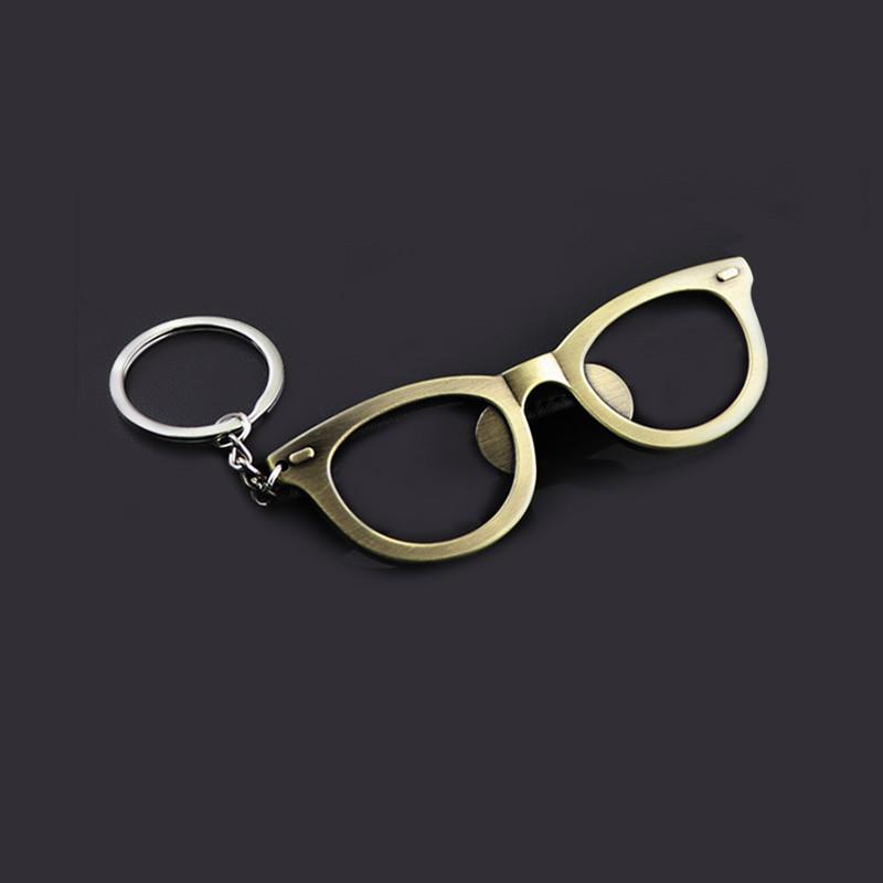 Eyeglass bottle opener keychains