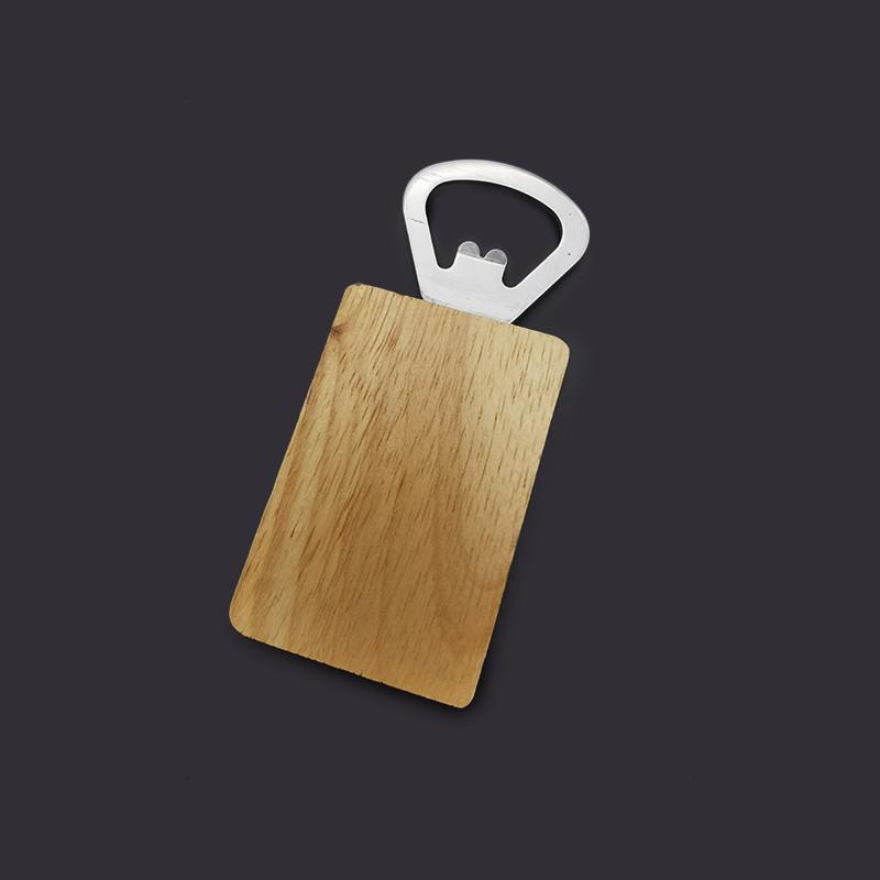 Wholesale Promotional Rectangle Wood Handle Bottle Opener