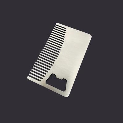 Custom Stainless Steel Metal Beard Comb Bottle Opener