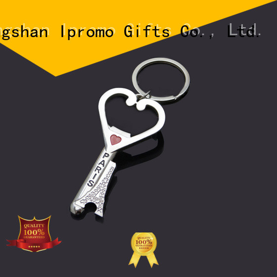 Ipromo first-rate round bottle opener keychain various types for gifts