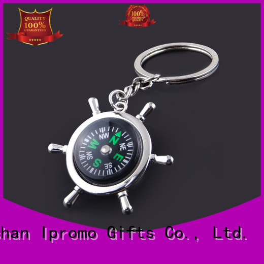Ipromo multi function working compass keychain low cost for party