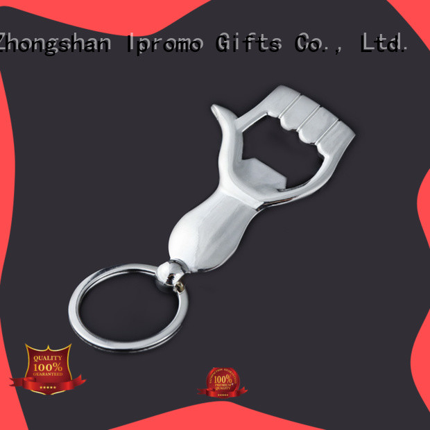 Ipromo hot-sale hand bottle opener keychain low cost for gifts