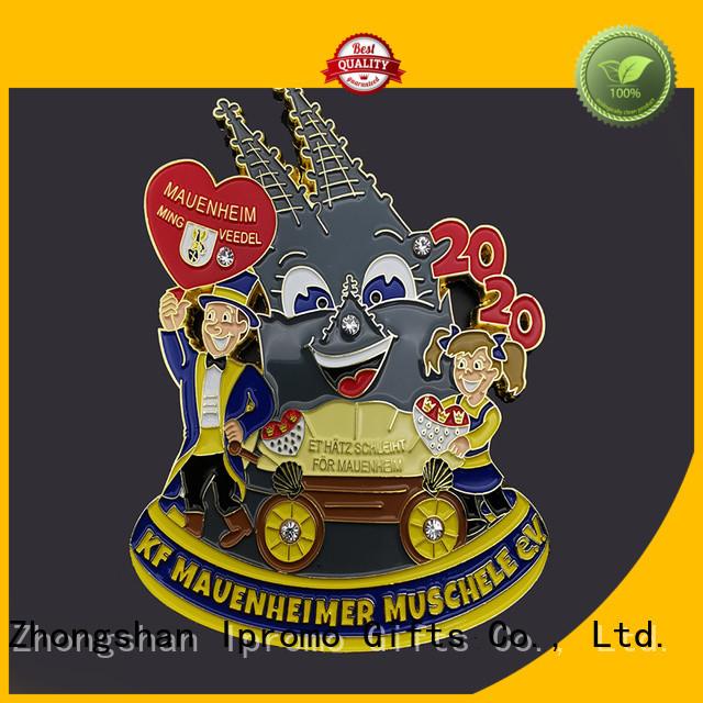 Ipromo promotional zinc alloy medal for wholesale for souvenir