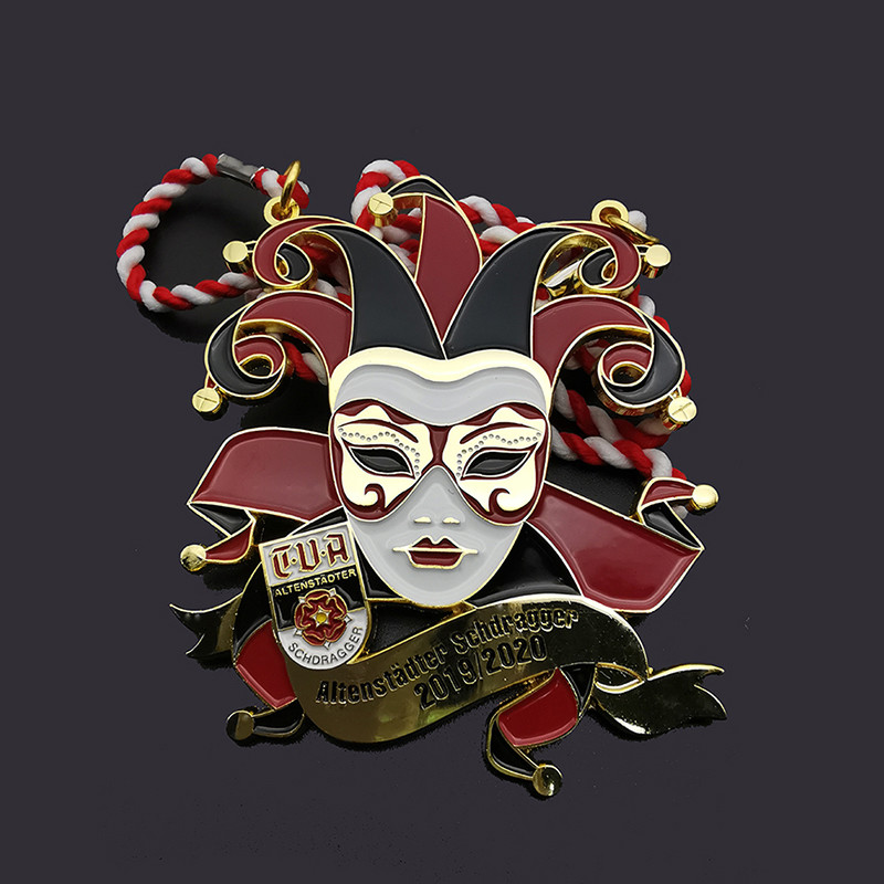 3D Enamel Circus clown medal