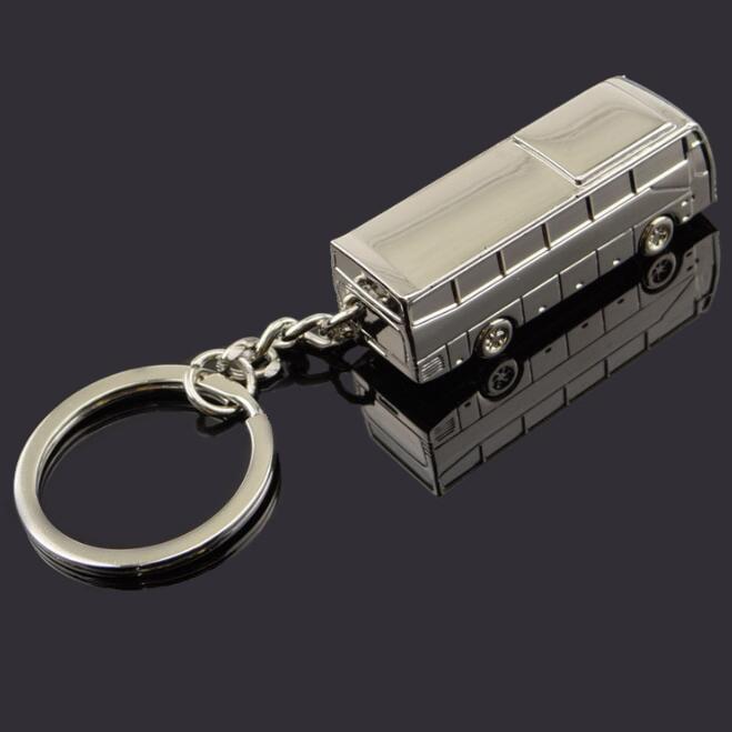 Metal Bus Keychains
