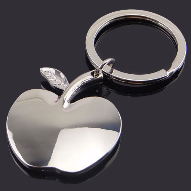 Metal Apple key-chains Christmas Eve Auspicious Gift