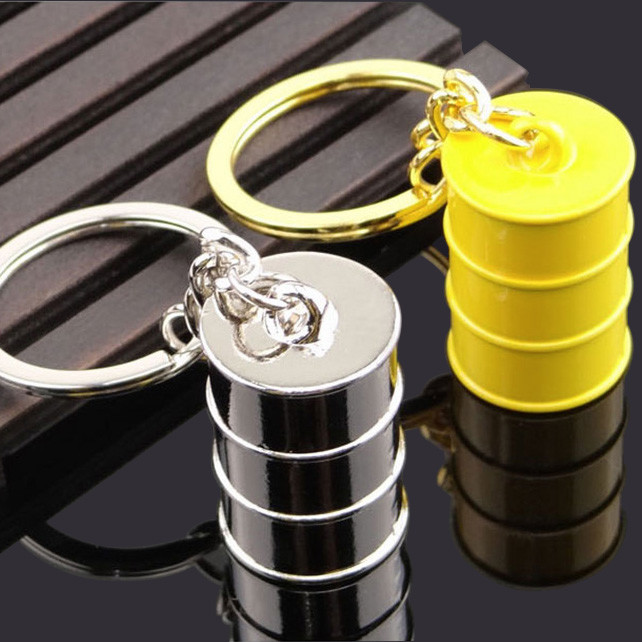 3D Metal paint bucket keychains