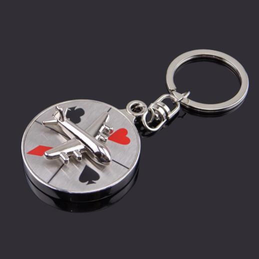 Aircraft compass  casino keychain