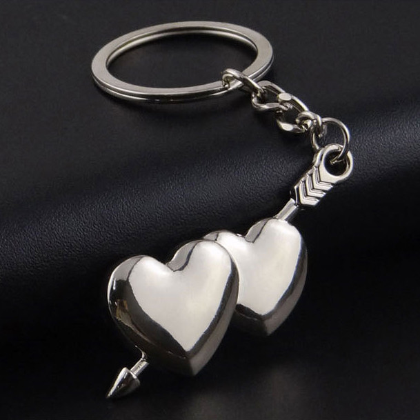 Double heart couple keychain Wholeasale