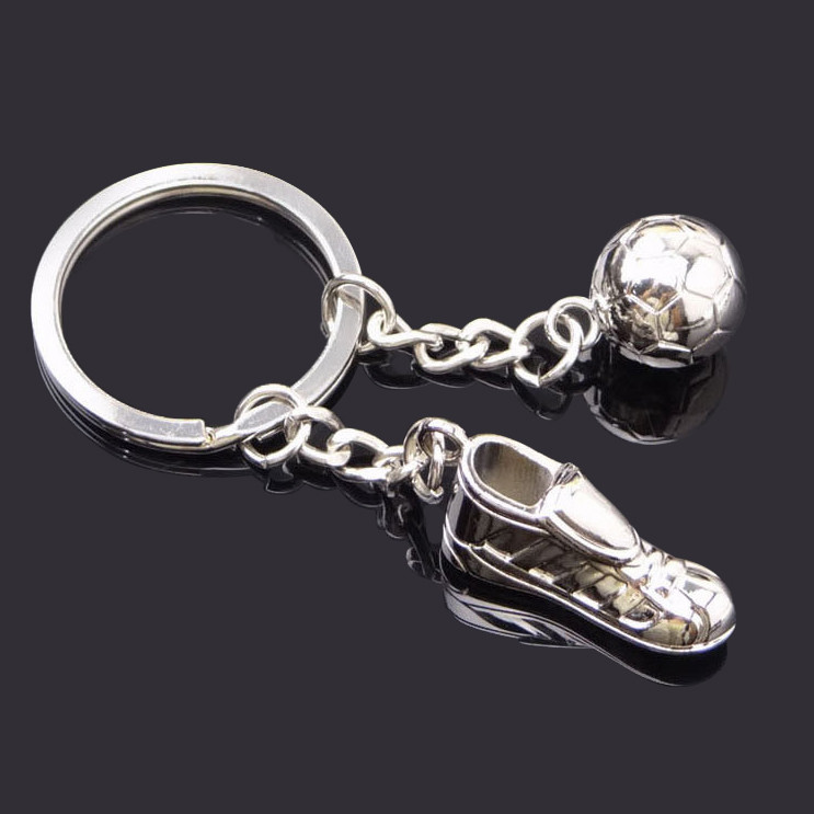 Football shoe ball keychain
