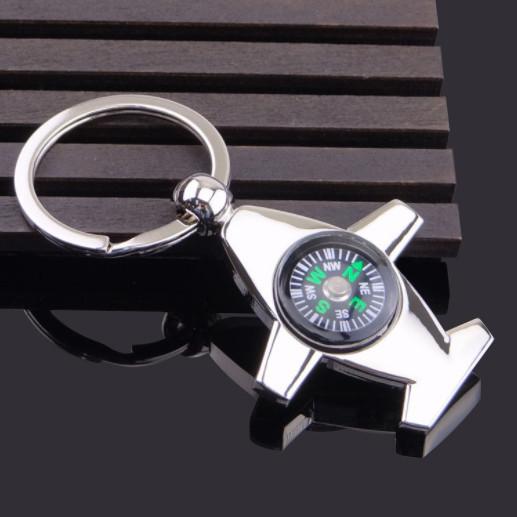 Aviation compass airplane keychain