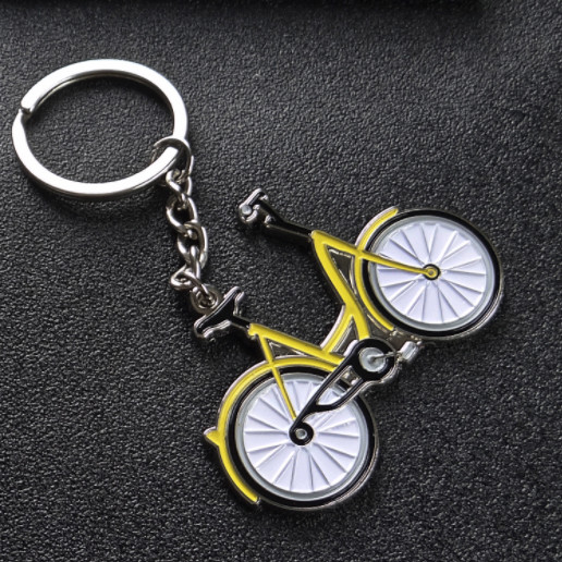 Bicycle metal keychains