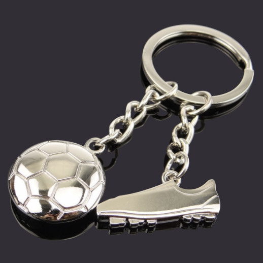 Football and Shoe souvenir keychain