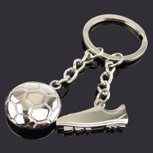 Football and Shoe souvenir keychain