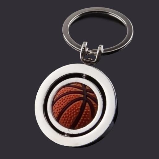 Basketball rotating keychain