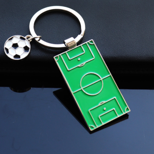 Football field and football keychains