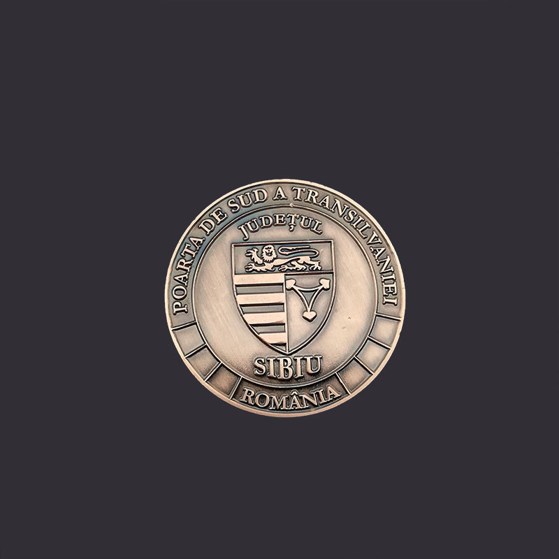 Custom 3D logo antique gold/old silver/bronze metal stamping souvenir challenge coins