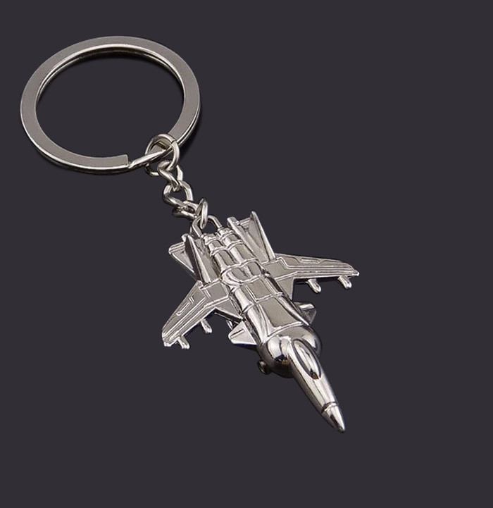 promotional airline gift custom made metal plane keyholder