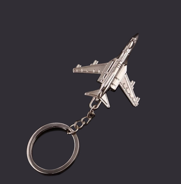 Promotional Gifts Zinc Alloy Die Casting 3D Plane Metal Custom Key-chain