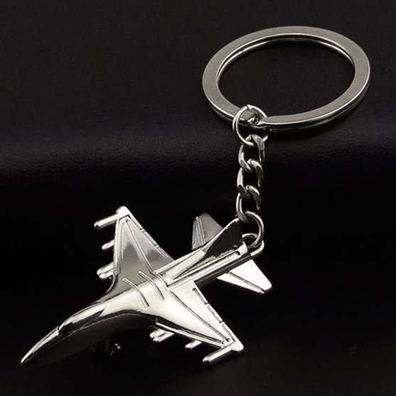 Creative Promotional Metal Fighter Aircraft Plane Keychains