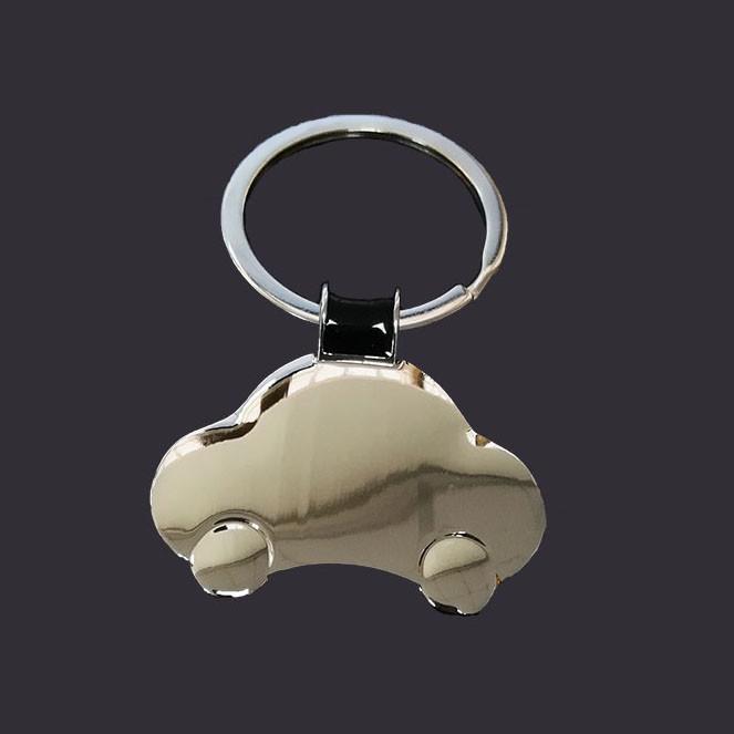 Car shape balck keychain custom logo keychain