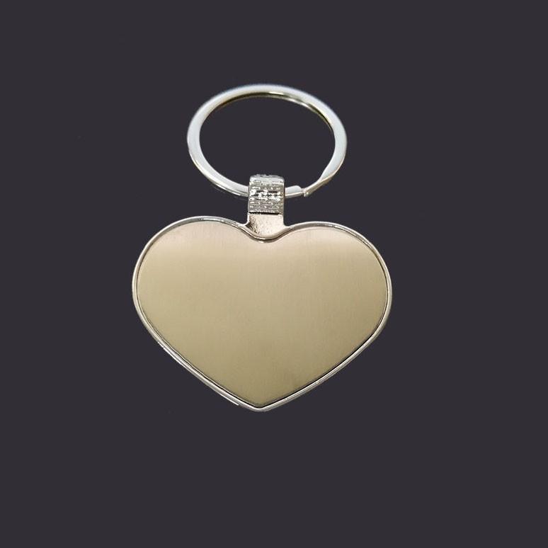 Heart  shaple metal keyring custom logo blank keychain