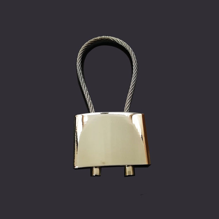stainless steel  rope blank keytag metal keychain