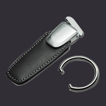 Leather Keychain with Detachable Ring