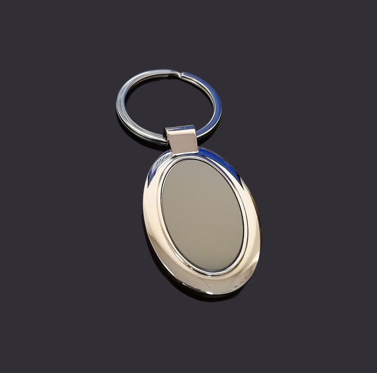 Oval blank key chain metal key ring
