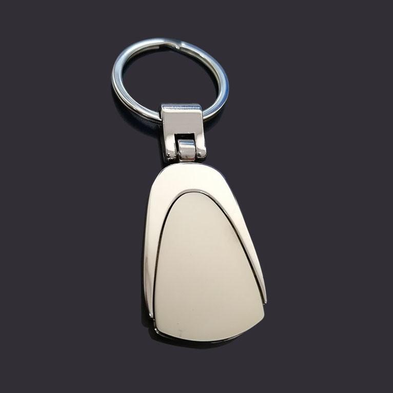 Double plating blank keychains custom logo keyring