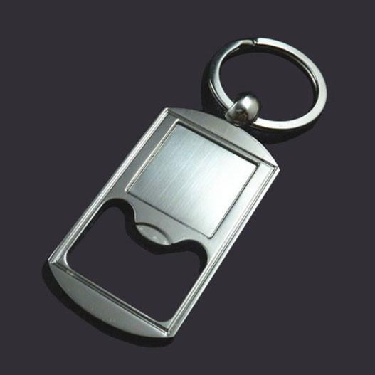Blank custom logo keychain bottle opener style