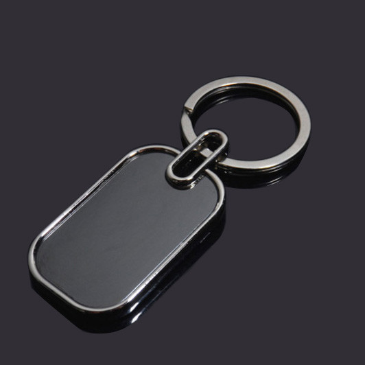 Black blank keychian metal key tag