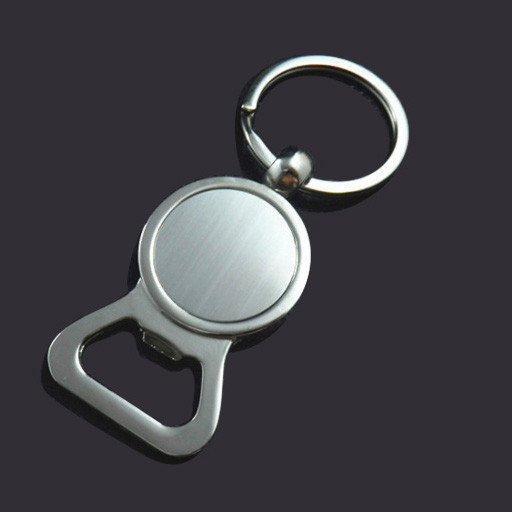 Blank metal bottle opener keychain custom key tag