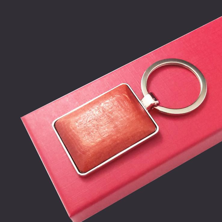 Wooden keychain custom keyring