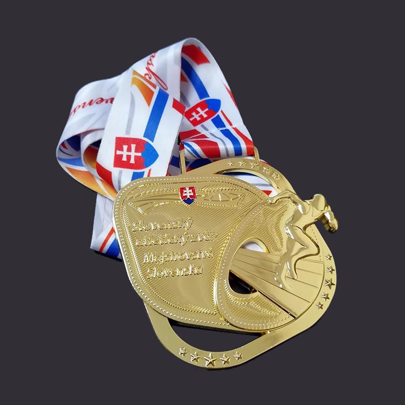 Gold plating medal custom medal