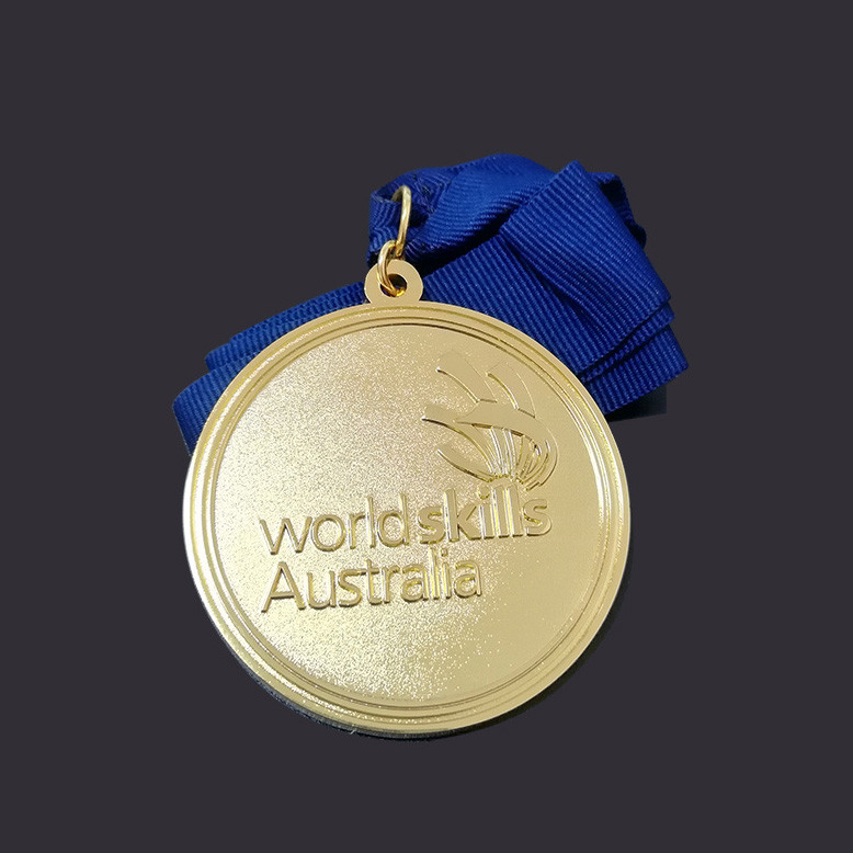 Round shape Gold medal custom medal
