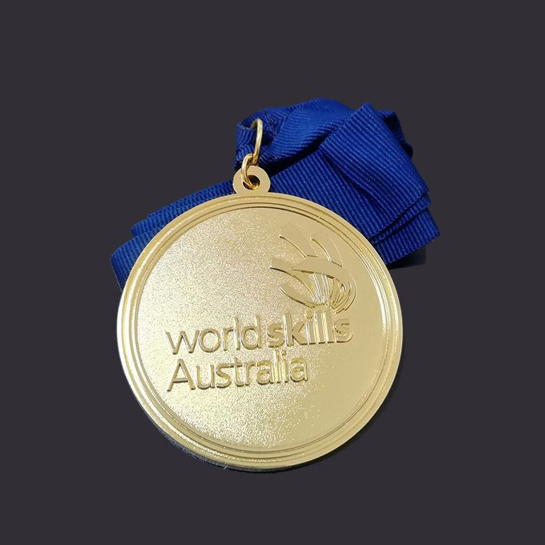 Round shape Gold medal custom medal