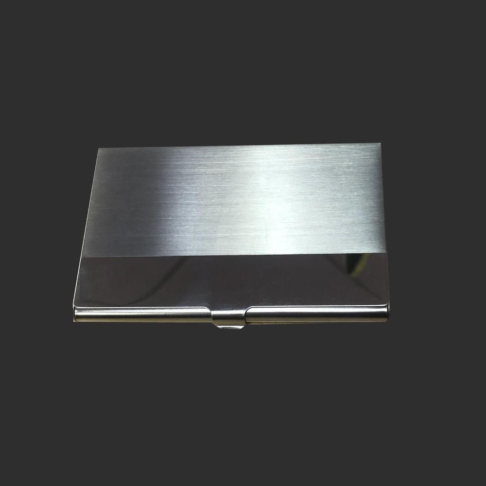 Popular Metal Brushed Pocket Business Name Card Holder