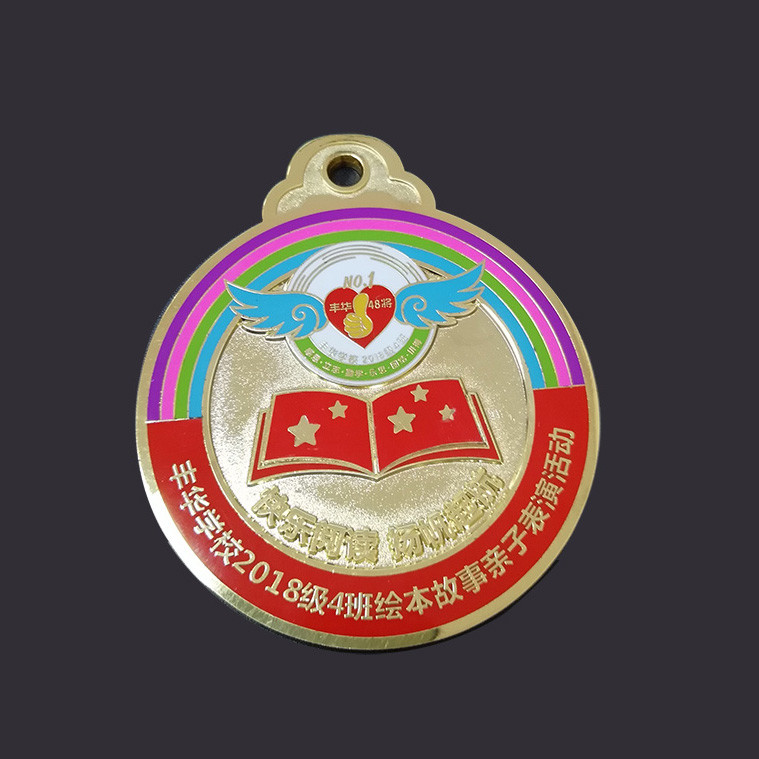 Round shape metal medal gold plating