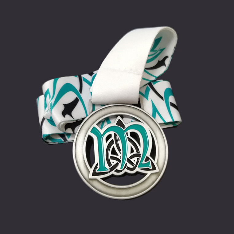 2D medal with enamel color custom medal