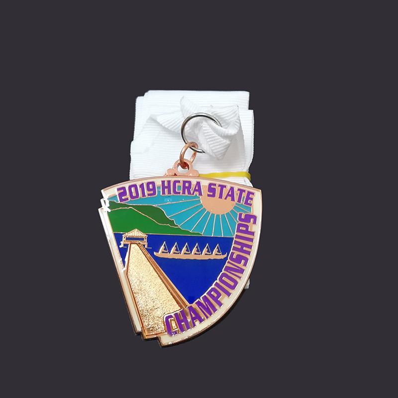 Special shape enamel medal