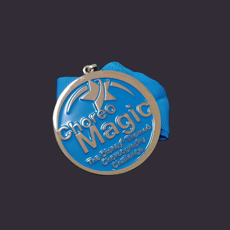 Blue custom enamel Medal