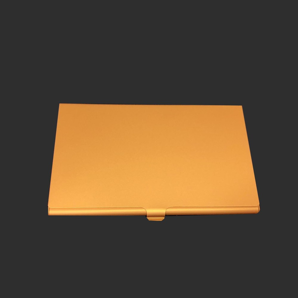 Thin quality metal yellow card holder
