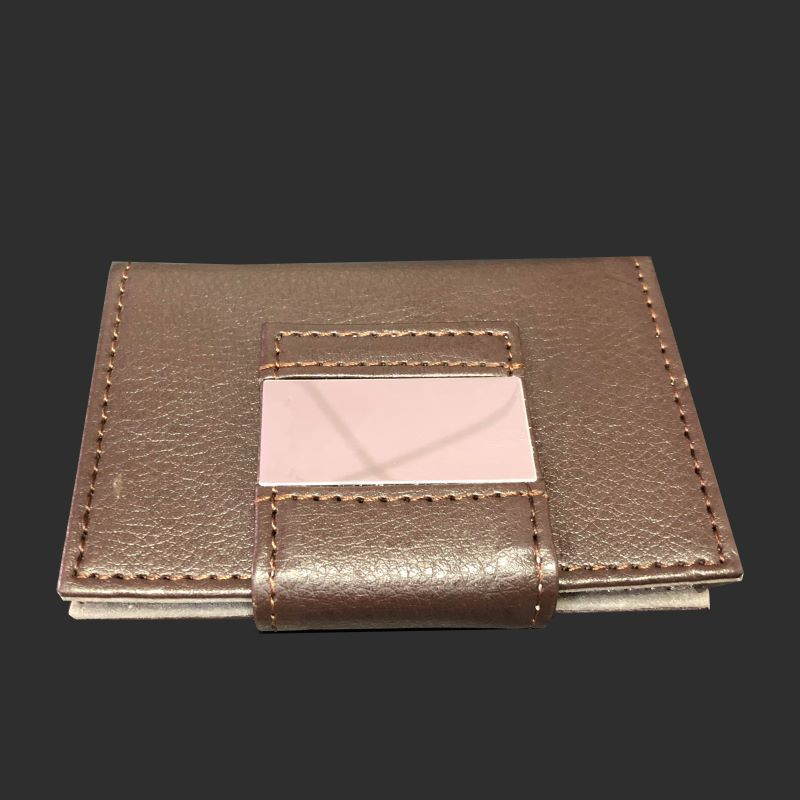 Fashionable leather brown card holder